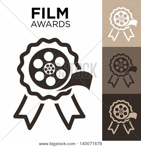 Best Film Award with Film Reel and Ribbon