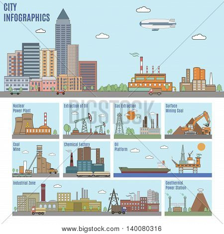 City Infographics. Industry