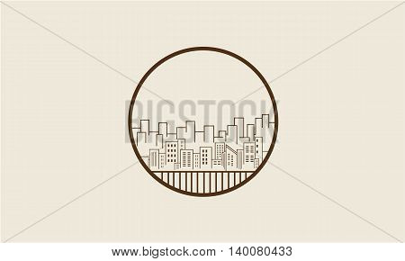 City silhouette vector art illustration collection stock