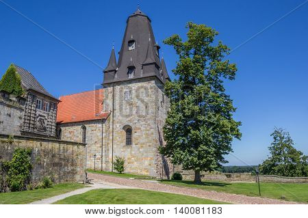 Tower Of The Hilltop Castle In Bad Bentheim
