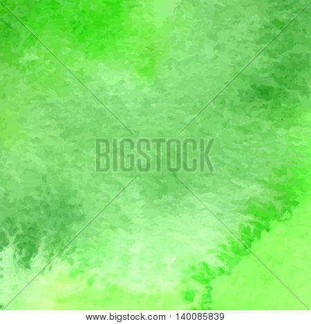 Green Vector Watercolor Hand Drawn Background Set For You Eco Design.