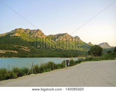 Lake Cuber Reservoir In The Serra De Tramuntana, Majorca, Spain
