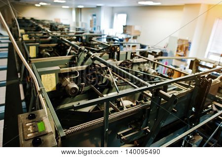 Engine room of bowling machine at engine room