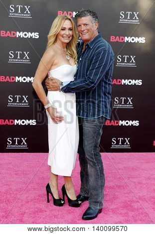 Taylor Armstrong and John H. Bluher at the Los Angeles premiere of 'Bad Moms' held at the Mann Village Theater in Westwood, USA on July 26, 2016.