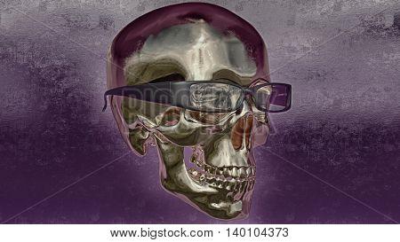 3d render / skull illustration / a mark of the danger warning / T-shirt graphics