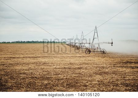 Mobile Irrigation Pivot Watering A Field
