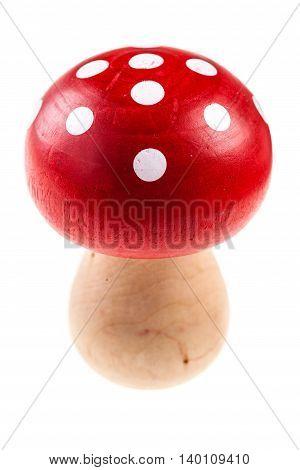 Wooden Mushroom Figure