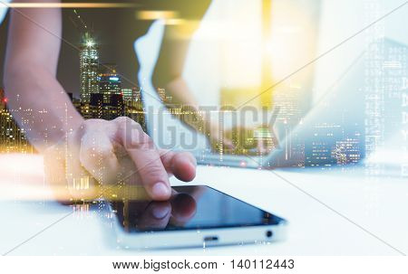 Businesswoman Prepare And Read Data For Discuss Target On Market At Meeting Room For Decorate Or Des