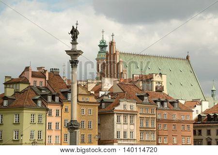 The old town (Stare Miasto) of Warsaw Poland