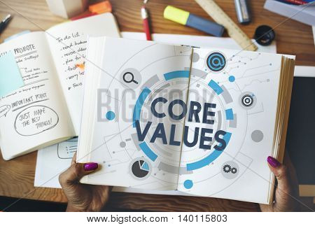 Core Values Principles Policy Moral Ideology Concept