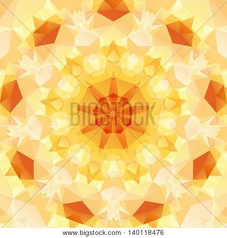Multifaceted on an abstract pattern of regular geometric shapes