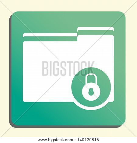 Folder Lock Close Icon In Vector Format. Premium Quality Folder Lock Close Symbol. Web Graphic Folde
