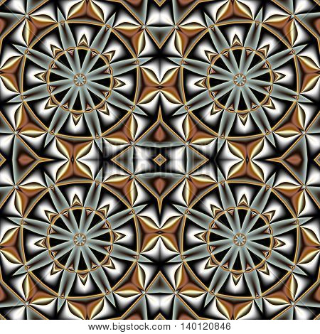 Abstract seamless pattern with circle and geometric ornament. You can use it for invitations notebook covers phone cases postcards cards ceramics carpets and so on. Artwork for creative design art and entertainment.