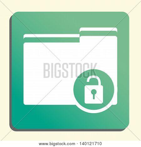 Folder Lock Open Icon In Vector Format. Premium Quality Folder Lock Open Symbol. Web Graphic Folder