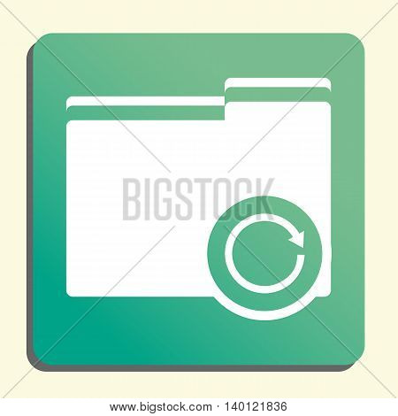 Folder Reload Icon In Vector Format. Premium Quality Folder Reload Symbol. Web Graphic Folder Reload