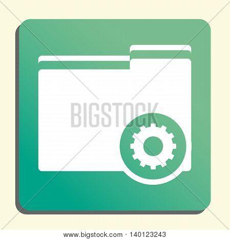 Folder Settings Icon In Vector Format. Premium Quality Folder Settings Symbol. Web Graphic Folder Se