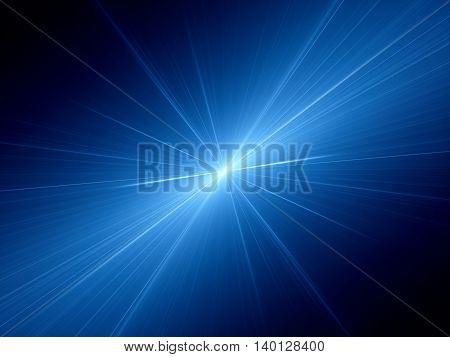 Blue glowing speed of light computer generated abstract background