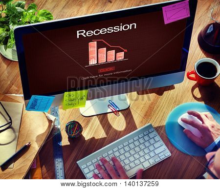 Recession Crisis Inflation Bankrupt Savings Trade Concept