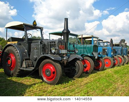 Old Lanz and Hanomag tractors