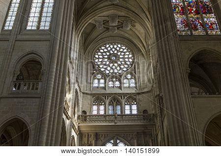 Cathedral Notre Dame Of Senlis, Oise, France