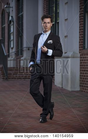 Young Male Professional on a City Street