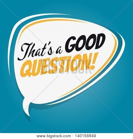 that's a good question retro speech balloon