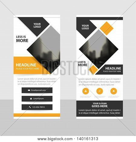 Yellow black triangle Business Roll Up Banner flat design template Abstract Geometric banner template Vector illustration set abstract presentation brochure flyer template vertical template vector