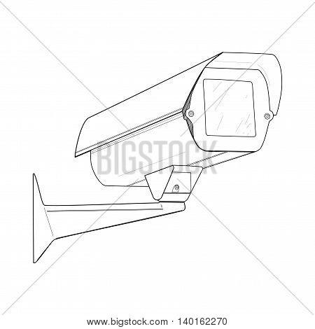 Security camera - vector illustration. Camera cctv, drawing design.