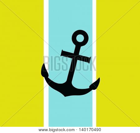 Anchor icon. Silhouette anchor. Anchor isolated on background
