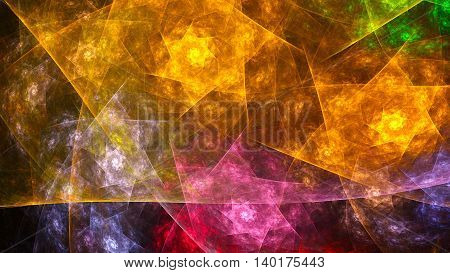 Symphony gems. Rotating polyhedra. 3D surreal illustration. Sacred geometry. Mysterious psychedelic relaxation pattern. Fractal abstract texture. Digital artwork graphic design astrology alchemy magic