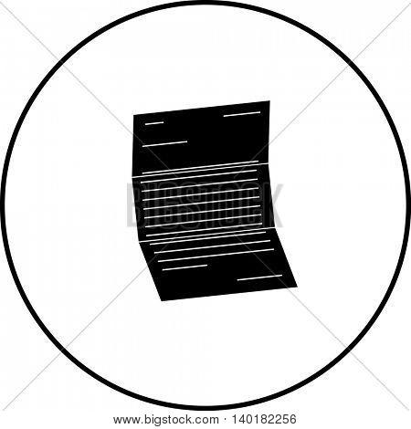 unfolded letter symbol
