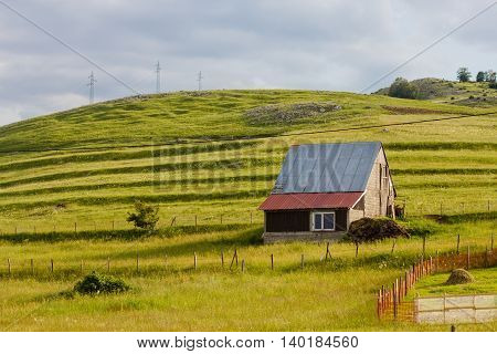 Rural House On The Green Hill