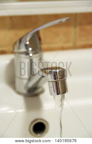 Stainless steel bathroom tap. New Bathroom faucet.