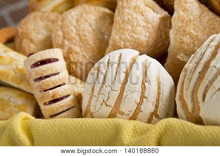 A delicius Sweet bread in a basket