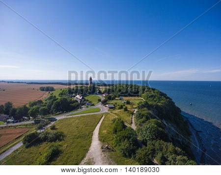 Coastal Landscape at Kap Arkona on Ruegen Island at baltic Sea, Mecklenburg Western Pomerania, Germany poster