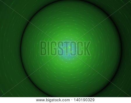 Abstract voluminous green circle fractal beautiful background