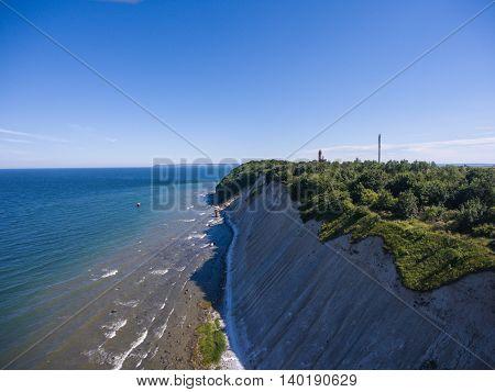 Coastal Landscape at Kap Arkona on Ruegen Island at baltic Sea, Mecklenburg Western Pomerania, Germany