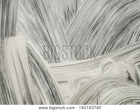 Abstract white oil paint smear background texture