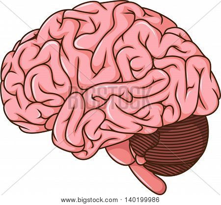 human brain clots cartoon for you design