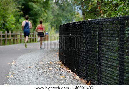Runners On Sammamish Trail