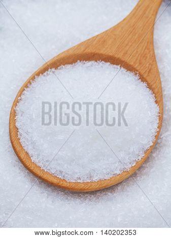 Monosodium Glutamate (msg) A Flavor Enhancer Asian Food.  Hight Sodium Food..unhealthy Food. Selecti