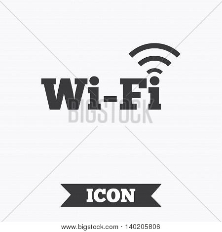 Free wifi sign. Wifi symbol. Wireless Network icon. Wifi zone. Graphic design element. Flat wi-fi symbol on white background. Vector