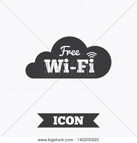 Free wifi sign. Wifi symbol. Wireless Network icon. Wifi zone. Graphic design element. Flat wifi internet symbol on white background. Vector