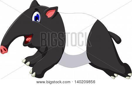 funny tapir cartoon running for you design