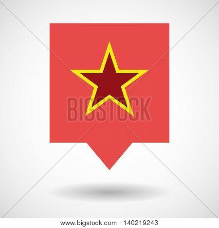 Isolated Line Art Tooltip Icon With  The Red Star Of Communism Icon