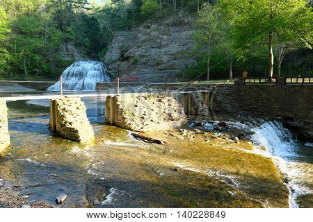 Waterfalls at Robert H. Treman State Park near Ithaca, New York