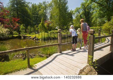 Botanical garden Volcji Potok near Kamnik, Slovenia