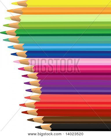 Colored pencil poster