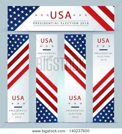 Presidential election banner background for presidential election in the USA 2016