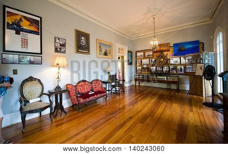KEY WEST FLORIDA USA - MAY 03 2016: Room in the Ernest Hemingway House in Key West in Florida.